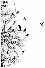 Fenstersticker No. 742Äste und Vögel im