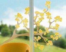 Fenstersticker No.IS30 Magnolien Baum Frucht