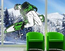 Fenstersticker No.IS55 Snowboarding Ski Winter