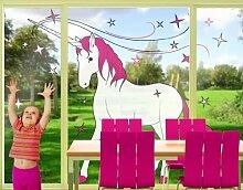 Fenstersticker No.IS62 Einhorn Märchen Pferd