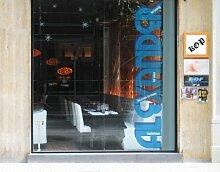 Fenstersticker No.JO19 Alexander Bar Getränk Rezept cocktails alkohol Fenstersticker Fensterfolie Fenstertattoo Fensterbild Fenster-Deko Fensteraufkleber Fensterdekoration Glas-Sticker Größe: 26cm x 144cm