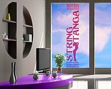 Fenstersticker No.JO6 Stringtanga Rezepte Alkohol Bar Getränke Cocktail Fenstersticker Fensterfolie Fenstertattoo Fensterbild Fenster-Deko Fensteraufkleber Fensterdekoration Glas-Sticker Größe: 100cm x 20cm