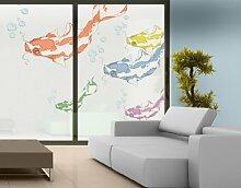 Fenstersticker No.MW3 Koi Set Fisch Exotisch