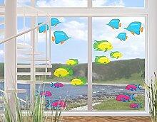 Fenstersticker No.RY29 Bunter Fischschwarm