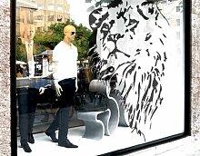 Fenstersticker No.TA4 Löwe Löwe Afrika Katze