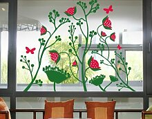 Fenstersticker No.TA42 Berry Blossoms pflanze
