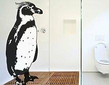 Fenstersticker No.TA5 Pinguin Vögel Südpol Zoo Pinguin Schnabel Fenstersticker Fensterfolie Fenstertattoo Fensterbild Fenster-Deko Fensteraufkleber Fensterdekoration Glas-Sticker Größe: 336cm x 144cm