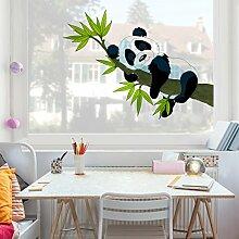 Fenstersticker Schlafender Panda Kinderzimmer Bär Fenstersticker Fensterfolie Fenstertattoo Fensterbild Fenster-Deko Fensteraufkleber Fensterdekoration Glas-Sticker Größe: 55cm x 75cm