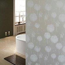 Fenstertattoo Milchglasfolie Löwenzahn Matt Größe: 200cm*45cm Sichtschutzfolie Fenster-Dekor