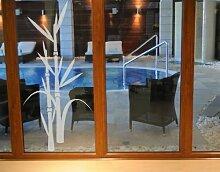 Fenstertattoo No.8 Bambus Bambus Pflanze Blume Zierplanze grün Bambus | Glasdekorfolie selbstklebend Milchglasfolie 5 Farben Fensterfolie Klebefolie Glasdekorfolie Sichtschutz Blickschutz Milchglas Fenster Bad Farbe: Romantic Rose; Größe: 45cm x 20cm