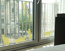 Fenstertattoo No.RS98 Katzen mit Mond Kätzchen