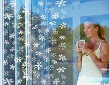 Fenstertattoo No.SF834 Schneeflocken Schnee Flocke Winter Kalt Weihnachten   Glasdekorfolie selbstklebend Milchglasfolie 5 Farben Fensterfolie Klebefolie Glasdekorfolie Sichtschutz Blickschutz Milchglas Fenster Bad Farbe: Romantic Rose; Größe: 100cm x 75cm