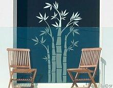 Fenstertattoo No.SF949 Bambus Bambus Pflanze Blatt Grün Natur Bambus | Glasdekorfolie selbstklebend Milchglasfolie 5 Farben Fensterfolie Klebefolie Glasdekorfolie Sichtschutz Blickschutz Milchglas Fenster Bad Farbe: Frosted; Größe: 146cm x 90cm
