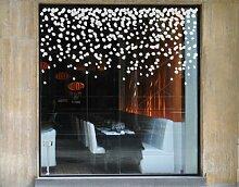 Fenstertattoo No.UL526 Schneefall Schneeflocken Schneefall Winter Weihnachten | Glasdekorfolie selbstklebend Milchglasfolie 5 Farben Fensterfolie Klebefolie Glasdekorfolie Sichtschutz Blickschutz Milchglas Fenster Bad Farbe: Refreshing Mint; Größe: 75cm x 153cm