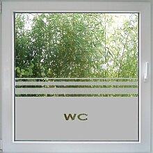 Fenstertattoo WC von Create&Wall - praktischer