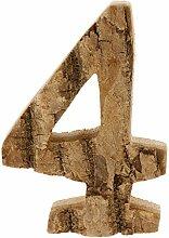 Fenteer 0-9 Holz Zahlen Hausnummer Türschilder