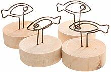 Fenteer 10stk Holz Kartenhalter Fotohalter