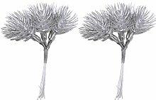 Fenteer 12 Stück DIY Künstliche Zweige Blätter