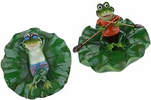 Fenteer 2 Stück Künstliche Lotus Leaf Frog
