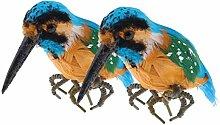 Fenteer 2pcs Lockvogel Eisvogel Tierfigur