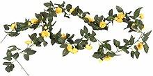 Fenteer 2X Rose Kunstseide Blumengirlande