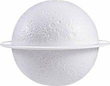 Fenteer 3D Mond Luftbefeuchter Lampe, LED Nacht