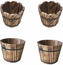 Fenteer 4 Stück Blumentopf Blumenkasten, aus Holz