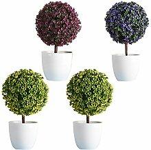 Fenteer 4 Stück Mini Bonsai-Baum im Topf