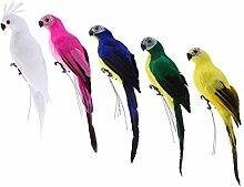 Fenteer 5pcs Realisierte Papagei Zaungast der