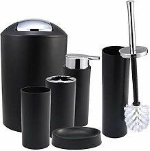 Fenteer 6 Pcs Badezimmer Zubehör Set, Kunststoff