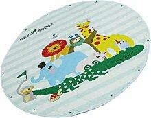 Fenteer Baby Spielmatte Runde Teppich Krabbeldecke