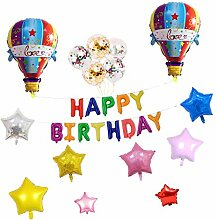 Fenteer Buchstaben Ballons + Heißluftballon