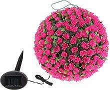 Fenteer Künstliche solar Blumenball Lampe