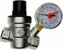 Fenteer Messing Luftdruck Druckminderer