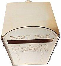 Fenteer Natur Holzbriefkasten Briefbox Postkasten