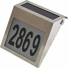 Fenteer Outdoor Hausnummernleuchte mit Zahlen