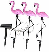 Fenteer Solarlampe Dekofigur Flamingo der