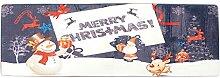 Fenteer Teppichläufer Bodenläufer Teppich für Hochzeit Dekoration Fußmatte 60x180cm - Weihnachtsweihnachtsmann 1