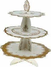 Fenteer Vintage Pappe Muffinständer Cupcake stand Cupcake-Ständer Törtchen Servierplatte