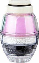 Fenteer Wasserhahn filter aus Aktivkohle für Wasserreiniger - Rosa