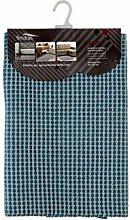 FERIDRAS dankbar Teppich, Baumwolle, hellblau, 50x 90x 62cm
