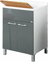Feridras Waschbecken 2 Türen 60x83x50 Grau