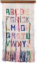 ferm LIVING - ABC Wandteppich 33 x 61 cm, multi