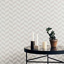 Ferm Living Angle Tapete Grau (l) 1000 X (b) 53 Cm