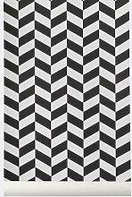 Ferm Living Angle Wallpaper - Black