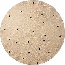 Ferm Living Black Dots Teppich 130 (Ø) 130 Cm