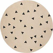 Ferm Living Black Triangles Teppich 130 (Ø) 130 Cm