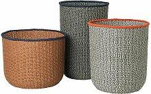 Ferm Living Braided Floor Basket 3er Set