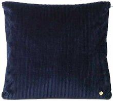 Ferm Living Corduroy Cord Kissen 45x45 Marineblau