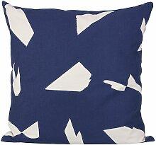 Ferm Living Cut Cushion Kissen Viereckig (l) 50.00 X (b) 50.00 Cm